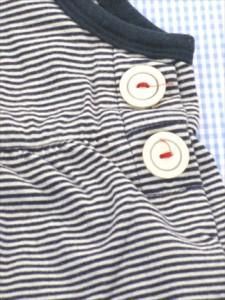 34f45c9749087 コンビ Combi ボーダー ワンピース 80cm 白 紺系 キッズ ベビー 女の子 トップス 中古 子供服 通販 買い取り