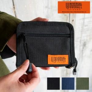 UNIVERSAL OVERALL ユニバーサルオーバーオール  ラウンドウォレット 財布 ラウンドジップ カードケース コインケース ナイロン 丈夫 耐