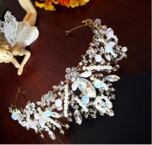 ブライダルアクセサリー,ヴィンテージバロック,クラウン新しい,ヘッドドレス,ヨーロッパ,誕生日 モデル アクセサリー