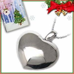 クリスマス限定Xmasカード付Brand Jewelry me. シルバー925・プラチナコーティングペンダントネックレス