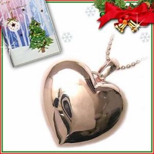 クリスマス限定Xmasカード付Brand Jewelry me. シルバー925・ピンクゴールドコーティングペンダントネックレス