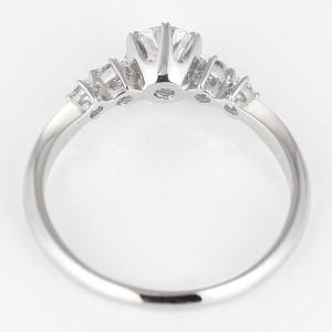AneCan掲載 Brand アニーベル Pt ダイヤモンドデザインリング 婚約指輪・エンゲージリング メレ