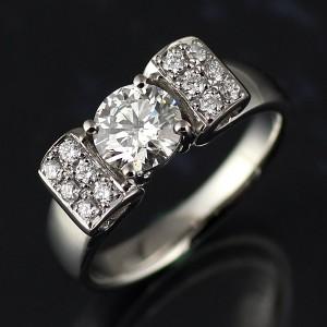 Brand アニーベル Pt 1ctUP ダイヤモンドデザインリング 婚約指輪・エンゲージリング