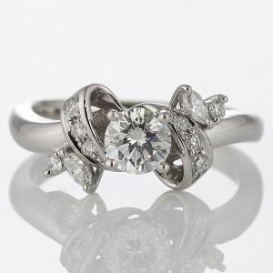 婚約指輪 ダイヤモンド ダイヤ リング エンゲージリング プラチナ950 SIクラス 0.20ct 鑑定書付