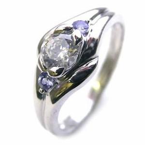 婚約指輪 ダイヤモンド エンゲージリング12月誕生石 タンザナイト