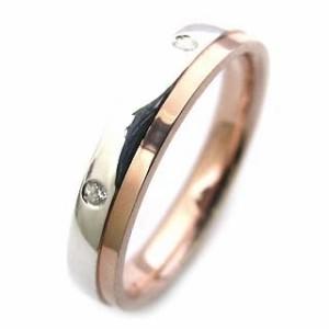 ペアリング Brand Jewelry Angerosa Pt・K18PGダイヤモンド
