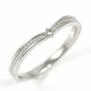 Brand Jewelry me. K18ホワイトゴールドダイヤモンドピンキーリング