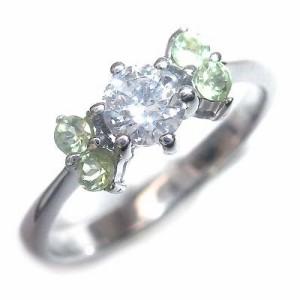 婚約指輪 ダイヤモンド プラチナエンゲージリング8月誕生石 ペリドット