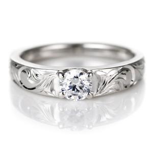 ハワイアンジュエリー 鑑定書付き ハワイアン プラチナ ダイヤモンド リング 婚約指輪 結婚指輪 VS ペアリング PT900 ダイヤ エンゲージ
