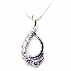 スイート エタニティ ダイヤモンド 10 個 プラチナ ダイヤモンドペンダントネックレス 結婚 10周年記念