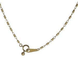 地金ネックレス 18kネックレスチェーンのみ 18金ネックレス イエローゴールド デザインチェーン
