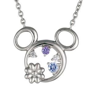 ディズニー ミッキー ネックレス フラワー Disney シルバー ロジウムメッキ ペンダント 人気 disney_y