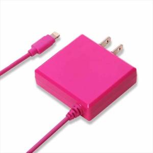 LightningコネクタAC充電器2.1Aピンク1.2mPG-MFILGAC17PK 取り寄せ商品