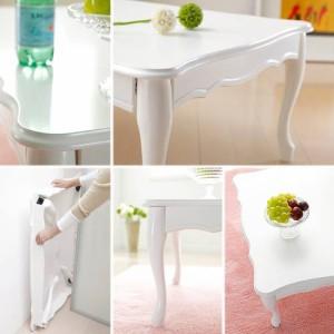 折れ脚式猫脚テーブル Lisana〔リサナ〕 120×75cm テーブル ローテーブル 姫系 家具 ダイニング 可愛い かわいい インテリア