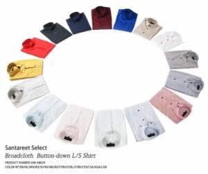 即納 日本製 ブロードデュエ長袖シャツ★16色 メンズ サンタリート(GW-A8629)lshirt