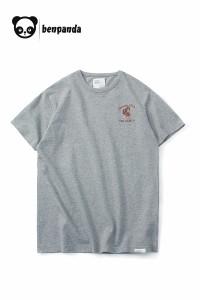 2018 夏 メンズTシャツ 丸首 カジュアル シンプル 刺繍ロゴ 通勤 通学 お出かけ デート ブラック グレー レジャー スポーツウェア