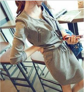 【即納】シンプルカットソーワンピース★ レディースファッション ドレス スカート ショート・ミニ丈 大きいサイズ 可愛い