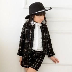 0b03159ed16ba 韓国子供服 子どもドレスフォーマル ツイード パンツスーツ キッズ ベビー パンツスーツ 上下セット ジュニア