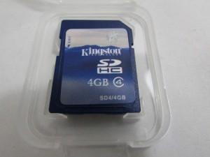 """""""デジタルカメラ、パソコンに最適♪ Kingston SDカード ハイクオリティ 4GB デジタルカメラ パソコンに"""""""