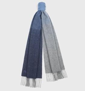 【中古】 ライトブルー×マルチ マフラー美品■ (ランバンオンブルー) LANVIN en Bleu カシミヤ