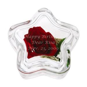 【花を母の日に贈る】【名入れ母の日ギフト】【名入れホワイトデー】【名入れ無料】プリザーブドフラワー スターレッドローズ 名入れ