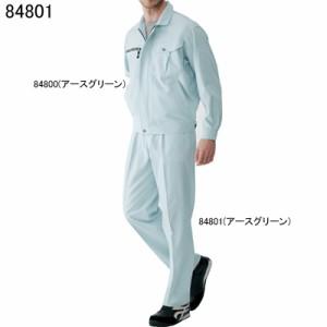 作業服・作業着 自重堂 84801 吸汗・速乾ワンタックパンツ W70〜W88