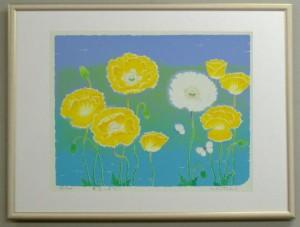 風水版画3321 金運 黄色いポピー 吉岡浩太郎