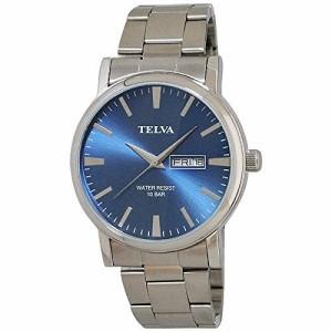 クレファー CREPHA 腕時計  TELVA テルバ スタンダードウォッチ メンズ 曜日日付表示機能付き TE-AM003-BLS ブルー 腕時計 ウォッチ