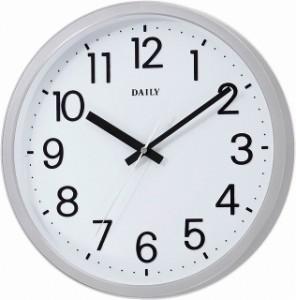 シチズン リズム時計 RHYTHM クロック DAILY 見易い スタンダード クォーツ時計 フラットフェイスDN 白文字盤 4KGA06DN19