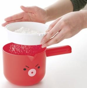 貝印 まいど本舗 タコやん 混ぜて注げる粉つぎボウルセット (粉つぎ・粉ふるい・生地混ぜマドラー) DS-1021 貝印(Ka