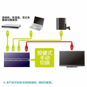 サンワサプライ HDMI切替器(自動切替なし・3入力・1出力) SW-HD31ML サンワサプライ