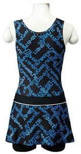 LACIERO(ラシエロ) レディース 水着 ロゴプリント スカート付 ワンピース LAO1502 ブルー 11Lサイズ LA