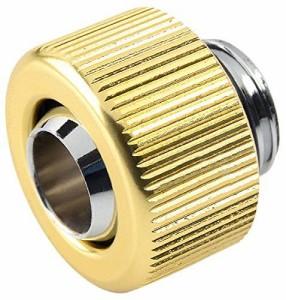 Touchaqua G1/4 インチ ソフトチューブ用フィッティング圧縮- 内径 3/8インチ 外径 1/2 インチ (ゴール
