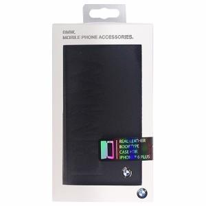 BMW 公式ライセンス品 Booktype case BMW debossed logo- Black iPhone6 PLU