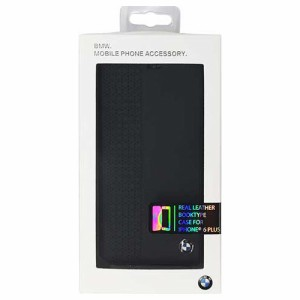 BMW 公式ライセンス品 Booktype Case Perforated Black iPhone6 PLUS用 BMFLB