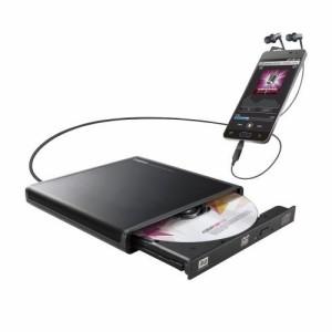 ロジテック Android用CD録音ドライブ/USB2.0/Type-C変換アダプタ付属/ブラック LDR-PMJ8U2RBK