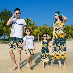 親子服 子供服 親子ペア服 親子お揃い服 親子ペアルック Tシャツ キッズ 兄弟ペア服 姉妹おそろい服 ビーチワンピース ハワイ風 海旅行