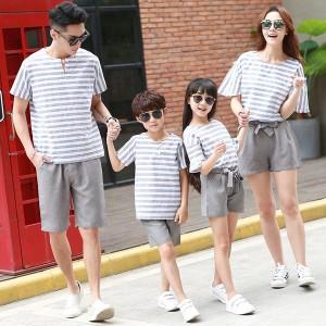 親子 お揃い Tシャツ 半袖 ペアルックセット 夏物 親子お揃い服 パパ ママ 女の子 男の子 親子ペア tシャツ+パンツカップル 親子服 家族