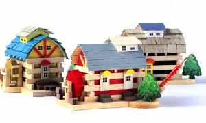 アイスタジオ・ウッズ 新・森の水車小屋 A72 ログハウス貯金箱 木工工作キット