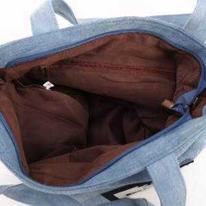 【A4】ワッペン いっぱい デニム トートバッグ A4 キャンバス 鞄 バッグ Bag