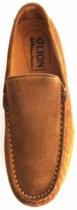紳士スリッポン 【新品】【送料無料】 LION/ライオン 大塚製靴 本革スエード イタリア製 素足履き 40(約25cm) 茶/ブラウン IN-20176