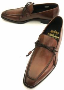 紳士ビジネス 【新品】 Otsuka[オーツカ] 大塚製靴 スリッポン Uチップ 革底 イタリア製 42/26cm 茶/ブラウン OT-17009