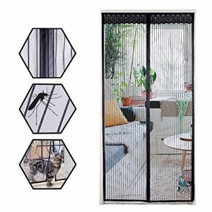 Rabbitgoo 網戸 玄関 ドア用 マグネット式 簡易あみ戸カーテン 張り