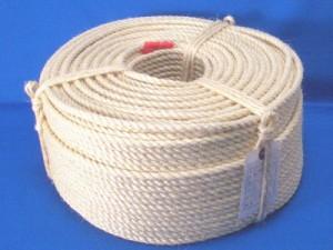 麻ロープ サイザルロープ φ8mm×長さ200m 【送料無料】