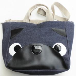 a99fa4b5c692 【送料無料】トートバッグ 大きめ デニム 2way パグ 犬柄 ショルダーバッグ 袋物 かわいい