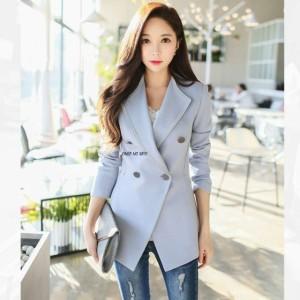 75fd0703197b7 テーラードジャケット オフィスカジュアル Vネック オフィス 通勤 大人 上品 韓国ファッション きれいめ 上品 お出かけ