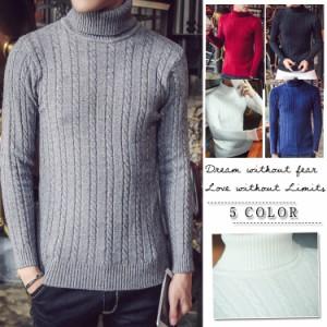 ニットセーター セーター ニット ハイネック メンズセーター カラー 大きいサイズ メンズ 紳士 お兄系 コーディネート きれいめ オシャレ
