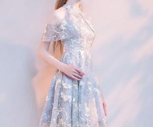 f3bcb3ae62a0f パーティー 肩出し 花柄 刺繍 ドレス 結婚式 二次会 カシュクールワンピース ワンピース ボーダーワンピース ストライプワンピース