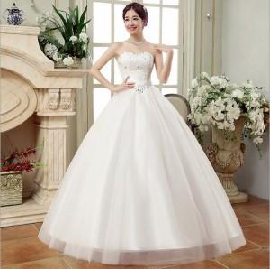 65ae5d52738f3 ウェディングドレス花嫁ブライド フリルドレス写真撮影 ロングドレスレース エンパイアドレス