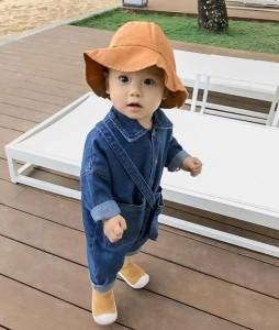 d3e1f5adbef45 ベビー赤ちゃん服 カバーオール ロンパース デニム コットン 可愛い 春秋 長袖 キッズ子供服 柔らかい カジュアルウェアの通販はWowma!